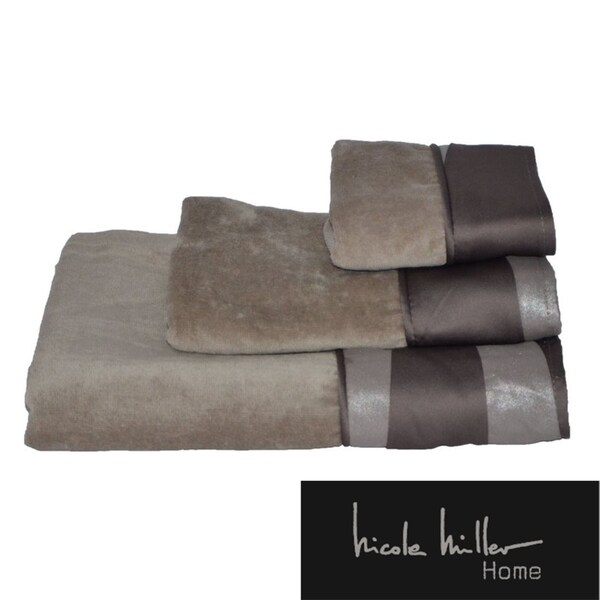 Nicole Miller Tangent Cotton 3-piece Towel Set