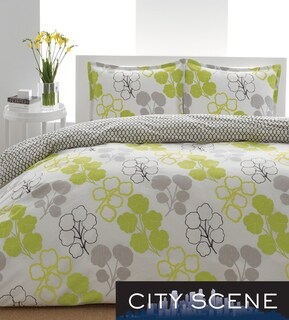 City Scene Pressed Flower 3-piece Duvet Cover Set