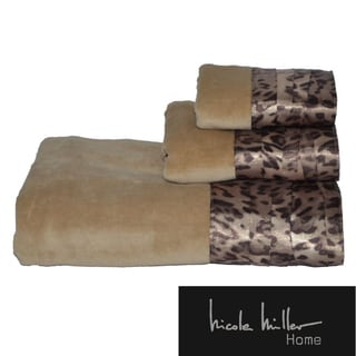 Nicole Miller Wild at Heart 3-piece Cotton Towel Set