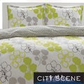 City Scene Pressed Flower 3-piece Comforter Set
