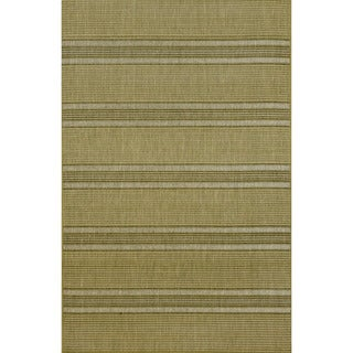 Stripes Green Outdoor Rug (3' 3