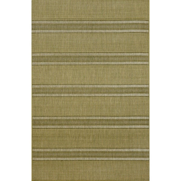 """Stripes Green Outdoor Rug (3' 3"""" x 5')"""