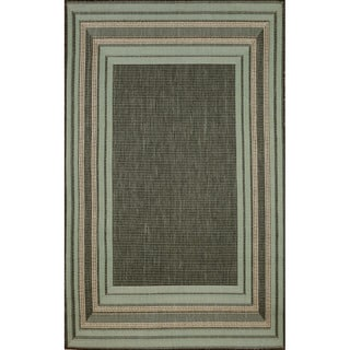 Sonoma Border Transitional Outdoor Rug (7'10