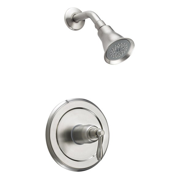 Fontaine Montbeliard Brushed Nickel Single-handle Shower Faucet and Valve Set