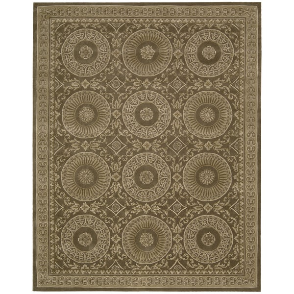 Nourison Hand-tufted Versailles Palace Mocha Brown Rug (9'6 x 13'6)