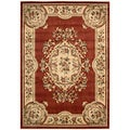 Aubusson Collection Rust Area Rug (5'3 x 7'5)