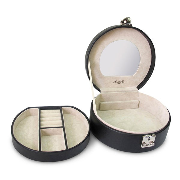 Linda Half Moon Leather Jewelry Box