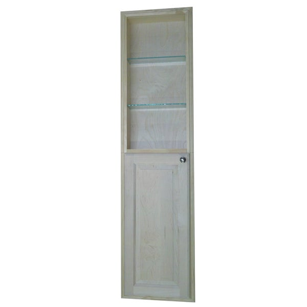 Baldwin 60 inch natural recessed pantry storage cabinet for 30 inch deep kitchen cabinets