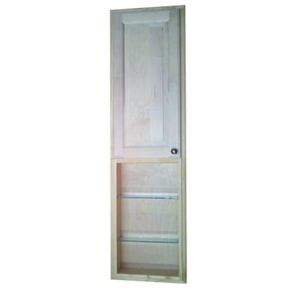 baldwin 54 inch natural recessed pantry storage cabinet with 24 inch