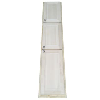 Baldwin 78-inch Natural Recessed Pantry Storage Cabinet