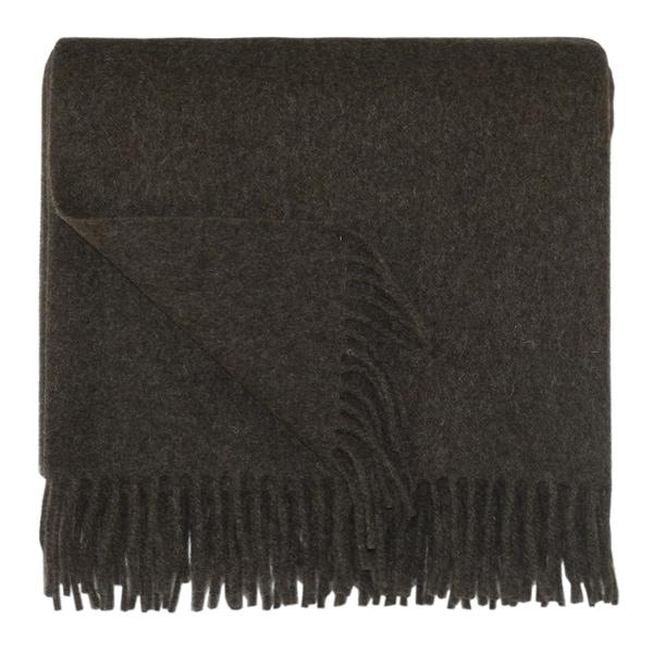 Bocasa Brown Woven Wool 50 x 67-inch Blanket
