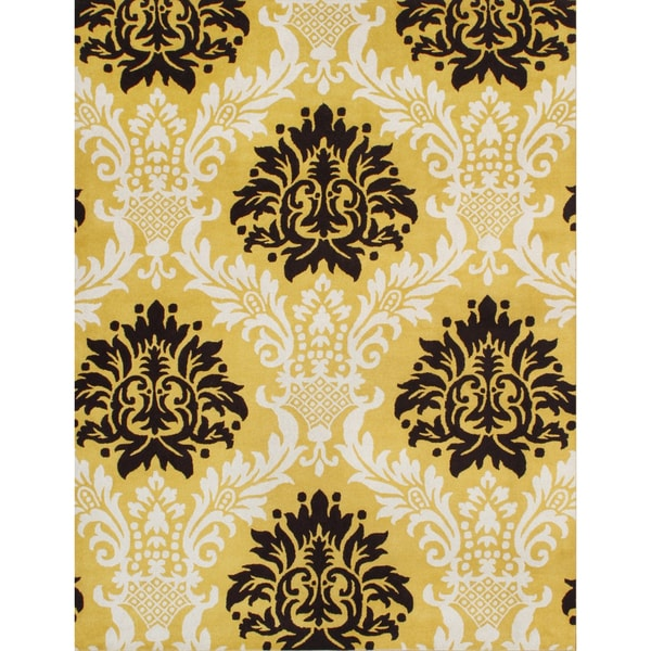 Alliyah Handmade Tufted York Yellow New Zeeland Blend Wool Rug (8' x 10')
