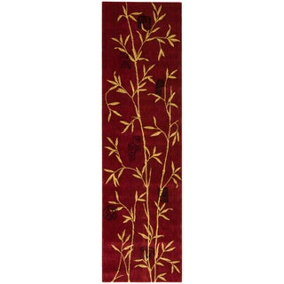 Chambord Asian Bamboo Red Runner Rug (2' x 5'9)