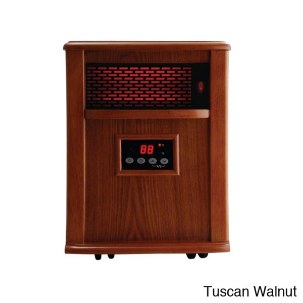 American Comfort Silver 1000-square-foot Solid Wood Portable Infrared Heater