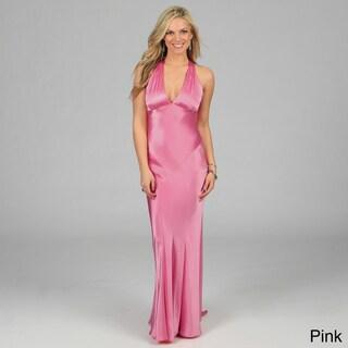 Issue New York Women's Criss-cross Open Back Long Evening Dress