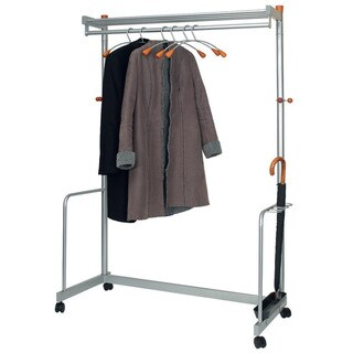 Modern Mobile Garmet Rack with Hangers and Umbrella Storage