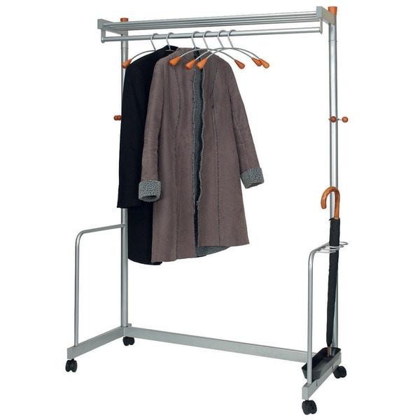 Modern Mobile Garmet Rack with Hangers and Umbrella Storage