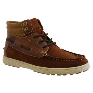 GBX Men's Suede and Canvas Lace-up Boots