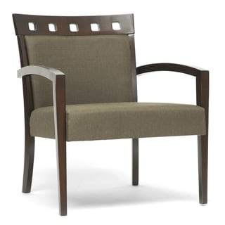 Carmela Green/ Brown Modern Accent Chair