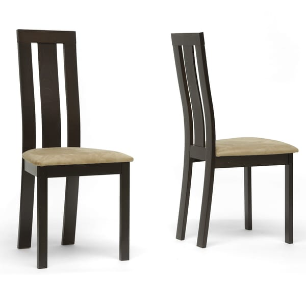 Verona Dark Brown Modern Dining Chairs (Set Of 2