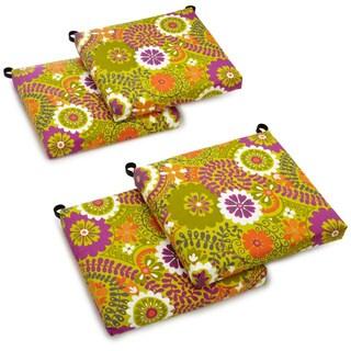 Blazing Needles Outdoor Spun Poly Cushions (Set of 4)
