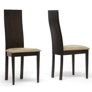 Geneva Dark Brown Modern Dining Chairs (Set of 2)