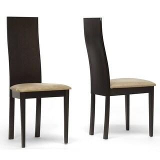 Geneva Dark Brown Modern Dining Chairs (Set of 2)