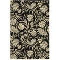 Hand-tufted Gatsby Black Rug (3'9 x 5'9)