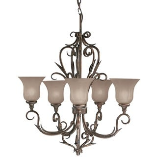 Aztec Lighting Legacy Bronze Transitional 5-light Chandelier