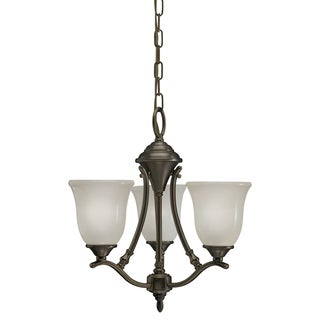 Azted Lighting Casual Bronze 3-light Chandelier