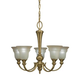 Aztec Lighting Olde Bronze 5-light Chandlier