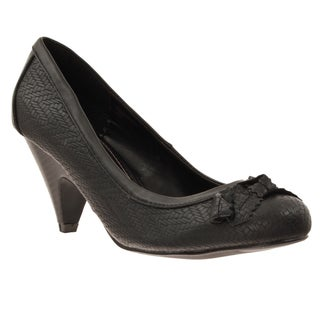 Riverberry Women's 'Farrah' Bow Detail Low Heel Pumps