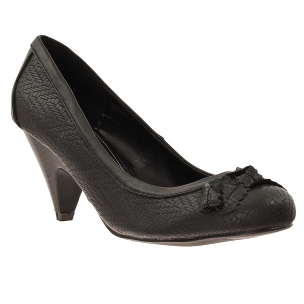 Riverberry Women's 'Farrah' Bow Detail Low Heel Pumps