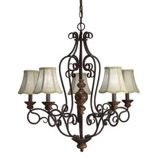 Aztec Lighting Transitional 5-light Chandelier