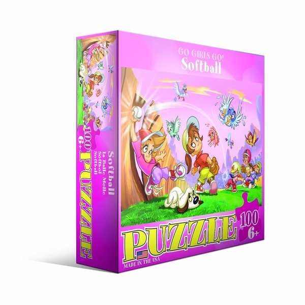 Eurographics 100-piece Softball Jigsaw Puzzle (19x13)