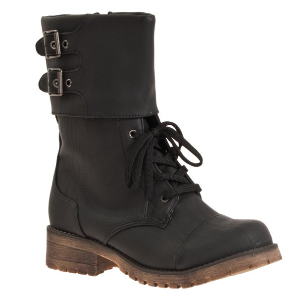 Riverberry Women's 'Login' Combat Style Boots