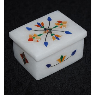 Marble and Jewel Encrusted Jewelry Box (India)