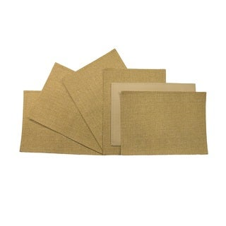 Rose Tree 18-inch Rectangle Gold Seagrass Place Mats (Set of 6)