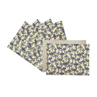 Rose Tree 18-inch Rectangle Plum Iris Place Mats (Set of 6)