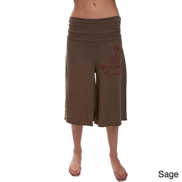 3/4 Length 100-percent Organic Cotton 'Om' Yoga Pants (Nepal)