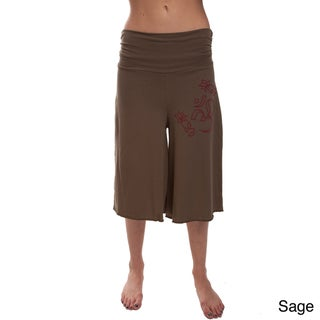 3/4 Length 100-percent Organic Cotton 'Om' Yoga Pants (Nepal)
