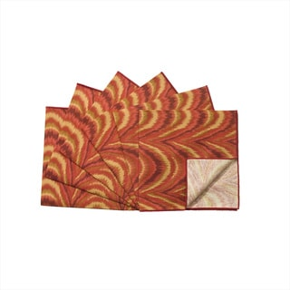 Rose Tree 18-inch Square Flame Napkins (Set of 6)