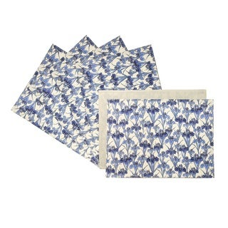 Rose Tree 18-inch Rectangle Blue Iris Place Mats (Set of 6)