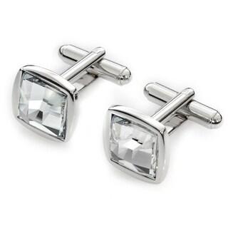 EJ Sutton Classic Clear Crystal Cuff Links (Israel)