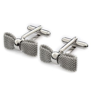 Bow Tie Silver Cuff Links (Israel)