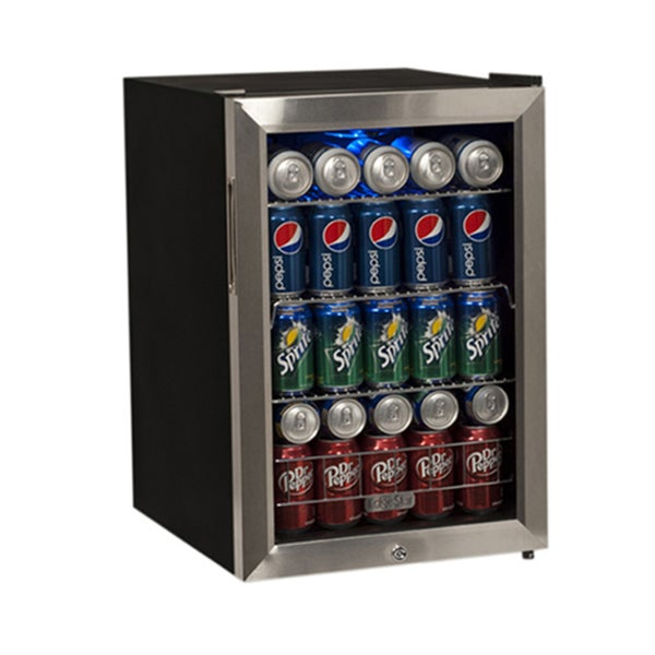 EdgeStar Black and Stainless Steel 84-Can Supreme Cold Beverage Cooler