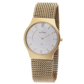 Skagen Women's Goldtone Mesh Strap Watch