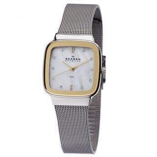 Skagen Women's Two-tone Square Dial Watch