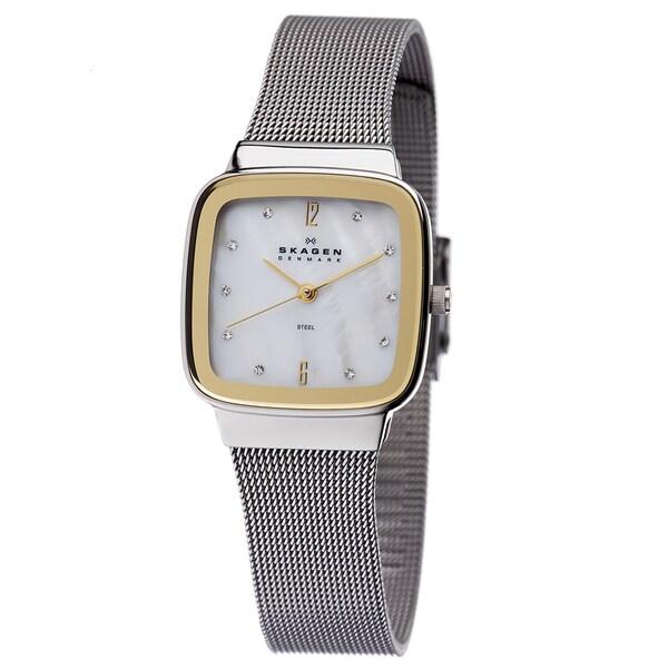 Skagen Women's Two-tone Square Dial Watch