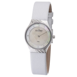 Skagen Women's White Crystal-accented Element Watch